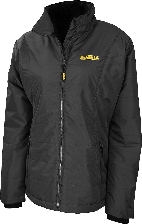 DEWALTDCHJ077D1-XS DCHJ077D1 Women's Quilted Heated Jacket, Black, X-Small