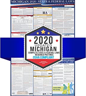 2020 Michigan State and Federal Labor Laws Poster - OSHA Workplace Compliant 24