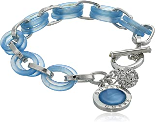 GUESS Women's Toggle Bracelet, Blue, One Size