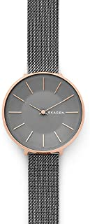 Skagen Karolina Dark Gray Steel-Mesh Watch