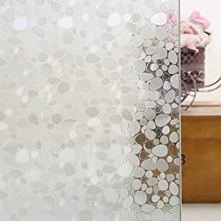 Privacy Window Films, Almost Transparent Glass Tint Static Cling Treatment for Home Security & Decorative, Heat Control, U...