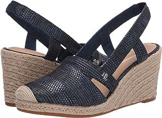 Lauren Ralph Lauren Women's Espadrille Wedge Sandal, Navy, 6
