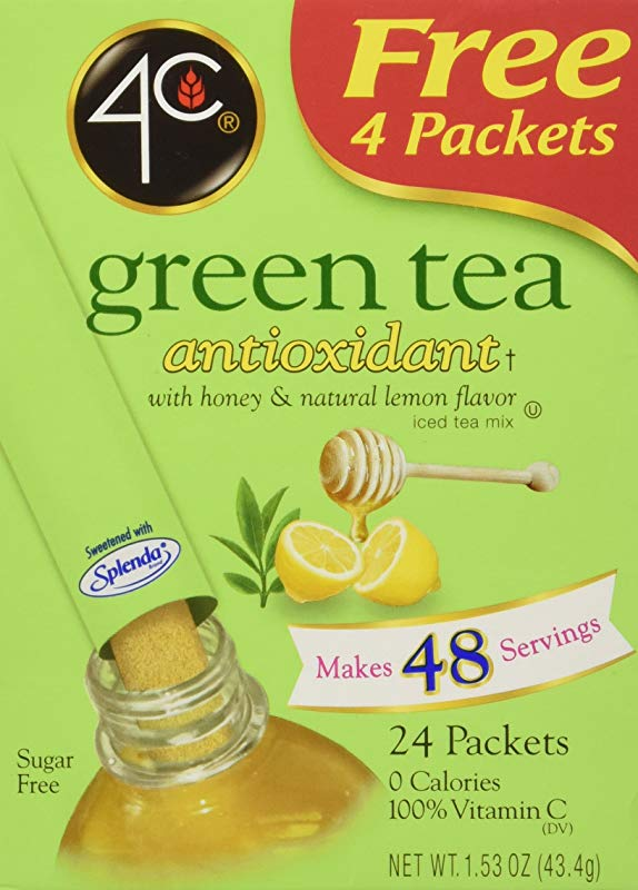 4C Totally Light Tea 2 Go Green Tea Ice Tea Mix Sugar Free 20 Count Boxes Pack Of 3