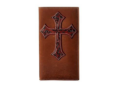 M&F Western Tooled Cross Overlay Rodeo Wallet Medium Brown For Nice Sale Online pz3tD