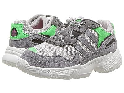 adidas Originals Kids Yung-96 EL I (Infant/Toddler) (Grey/Mint/Shock Pink) Kids Shoes