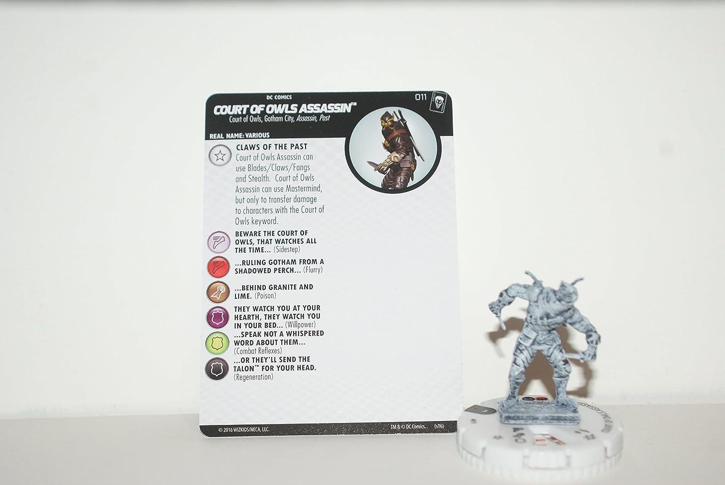 生命体クラウドフィットネスThe Joker's Wild HeroClix COURT OF OWLS ASSASSIN 011 SKETCH variant