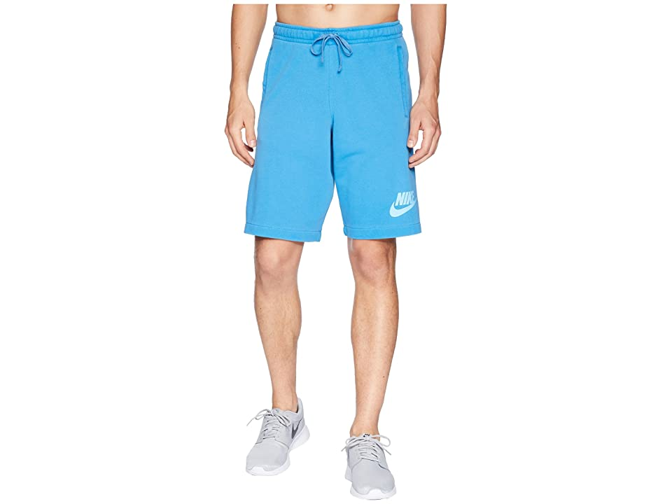Nike NSW Shorts French Terry Wash HBR (Equator Blue/Photo Blue/White) Men