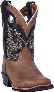 Dan Post Boys' Rascal Western Boot Square Toe Brown