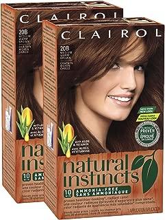 Clairol Natural Instincts, 020B, Cinnamon Stick, Med Warm Brown, 2 pk