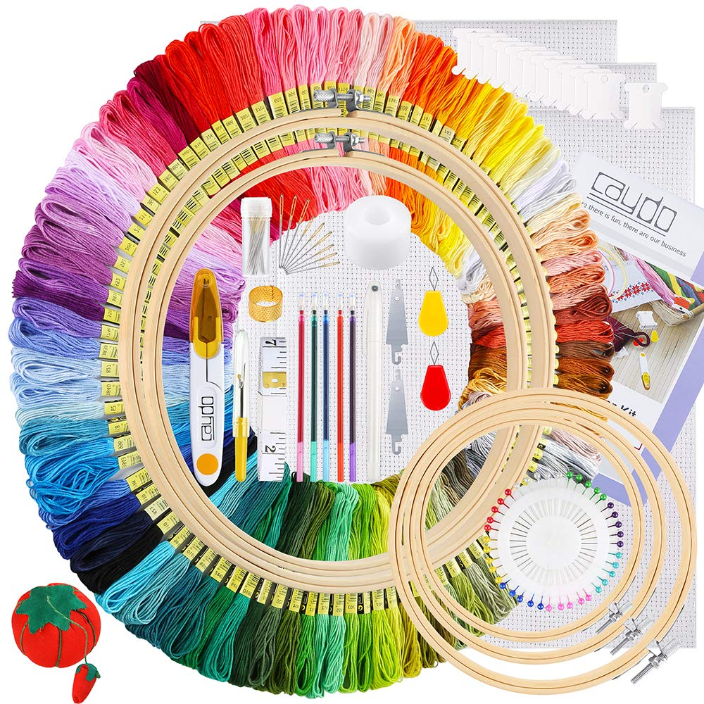 Caydo Embroidery Instructions Threads Beginners