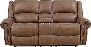 Emerald Home Furnishings Spencer reclining loveseat, Standard, brown