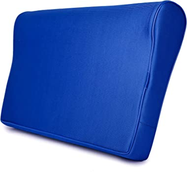 FABROYAL INDIA Cervical Memory Foam Pillow Double Contour Premium Medical Grade Universal Size ( Blue)