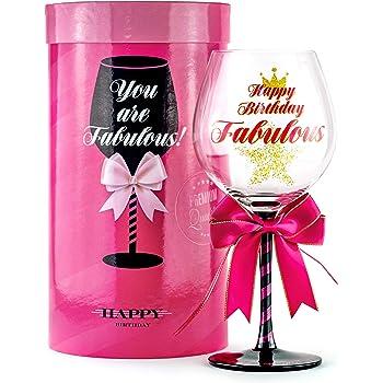 GIRLS BIRTHDAY WINE GLASS  GIRLS LADIES 18TH 21ST 30TH BIRTHDAY PARTY GIRL GIFT