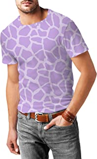 Rainbow Rules Bright Giraffe Print Mens Sport Mesh T-Shirt