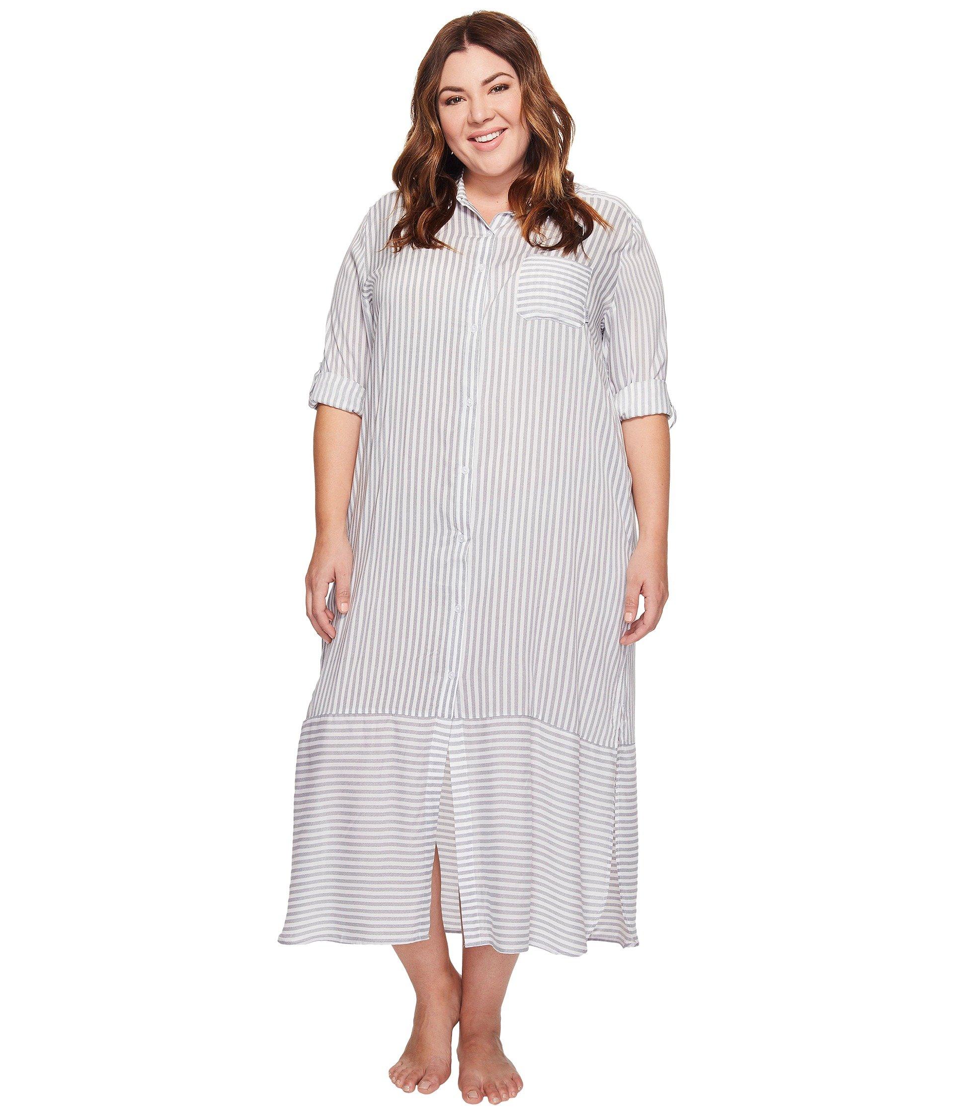 Babydoll DKNY Plus Size Fashion Long sleeve Sleep Maxi  + DKNY en VeoyCompro.net