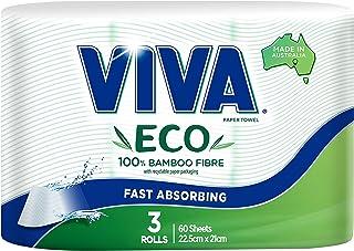 VIVA Eco Bamboo Fibre Paper Towel, 3 Rolls