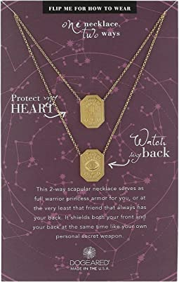 Dogeared - Protect My Heart, Watch My Back, Protection Scapular Necklace