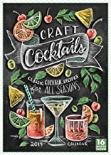 Craft Cocktails - Classic Cocktail Recipes for All Seasons 2019 Wall Calendar