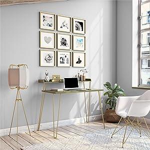 Ameriwood Home Haven Retro Computer Desk with Riser, Olive