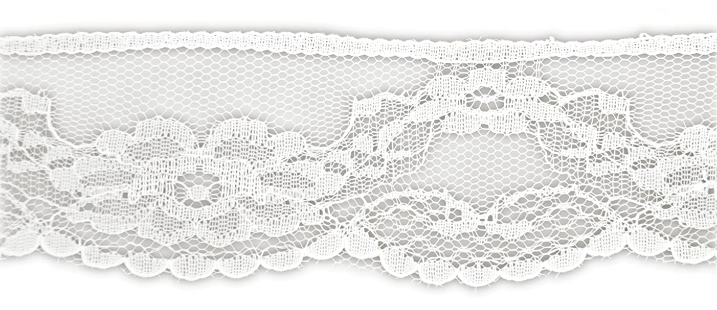 BELAGIO Enterprises White Flat Lace Trim