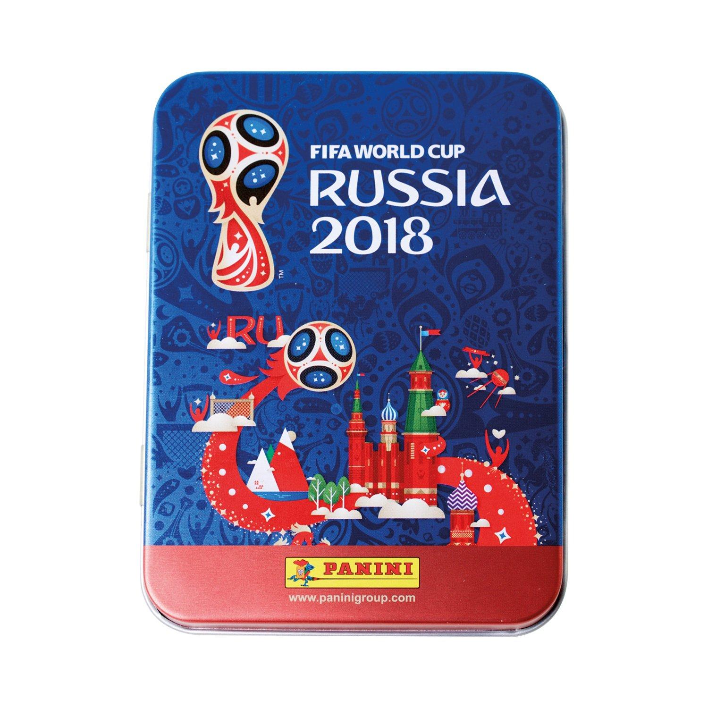Panini - Mundial Rusia 2018 Caja metálica con 5 sobres (25 stickers): Amazon.es: Juguetes y juegos
