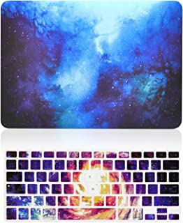 TOP CASE - 2 in 1 Signature Bundle Galaxy Graphic Matte Hard Case + Keyboard Cover Compatible Old Generation MacBook Pro 13
