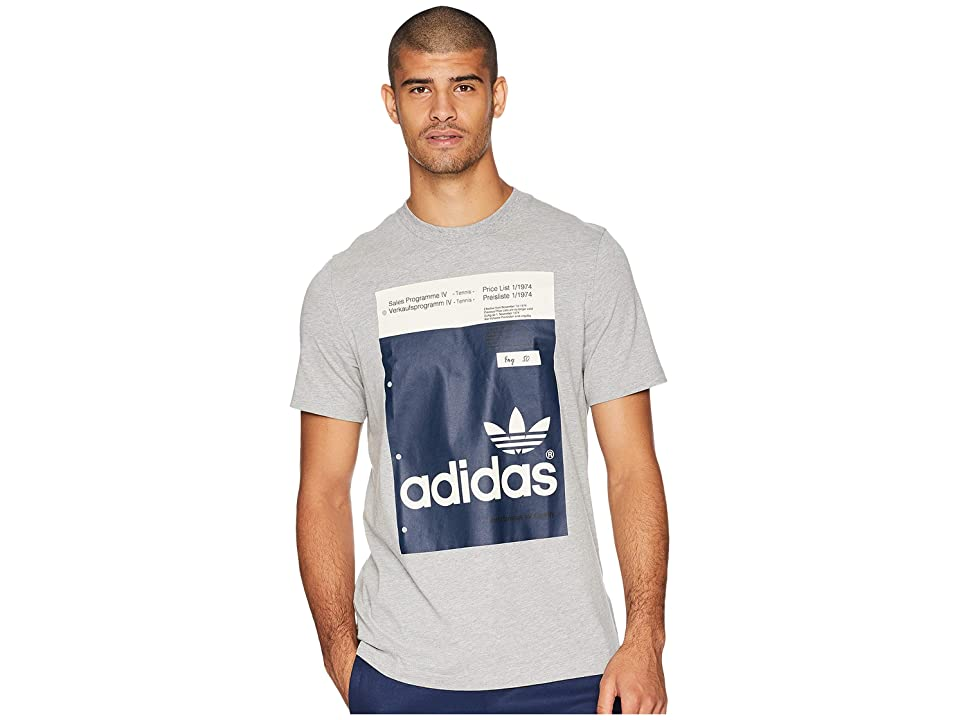 adidas Originals Pantone Tee (Medium Grey Heather) Men's T Shirt, Gray