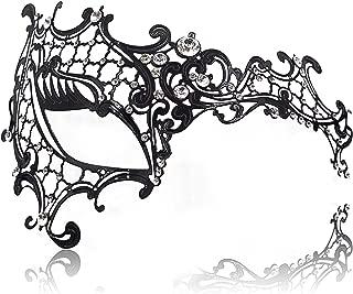 Masquerade Mask for Women Ultralight Metal Mask Shiny Metal Rhinestone Venetian Pretty Party Evening Prom Ball Mask.