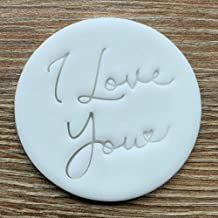 I Love You Fondant Embosser or Cookie Stamp Valentine's Day Icing Frosting Biscuit Stamp