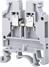 Elmex Grey KUT 4N DIN Rail Terminal Block Screw Type UL 600V 30A 20-10AWG, Pack of 100