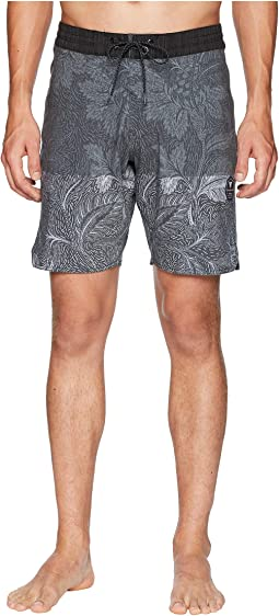 Etched Four-Way Stretch Boardshorts 18.5""