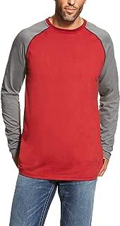 Men's Flame Resistant Long Sleeve Work CrewHenley Shirt