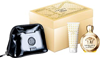 Versace Eros Pour Femme 100ML EDP + 100ML Body Lotion + Bag, 100 ml