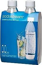 SodaStream 1L Slim White Carbonating Bottle Twin Pack