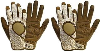 Digz Heavy Duty Womens Gloves (2 Pack) Medium Assorted Earth Tones