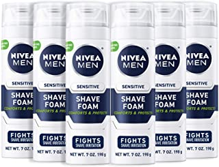 NIVEA Men Sensitive Shaving Foam – Soothes Sensitive Skin From Shave Irritation..