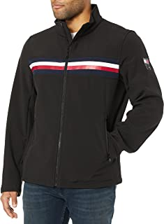 Men's Big Soft-Shell Classic Zip-Front Jacket with Tonal Hilfiger Logo at Back Neck