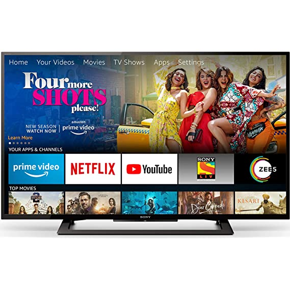 Sony Bravia 101.6cm (40 Inches) Full HD LED TV With Fire TV Stick (KLV-40R252G) (Black) | Smart Combo