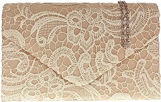 H&G Ladies raso pizzo pochette tracolla catena da sposa elegante sera Womens