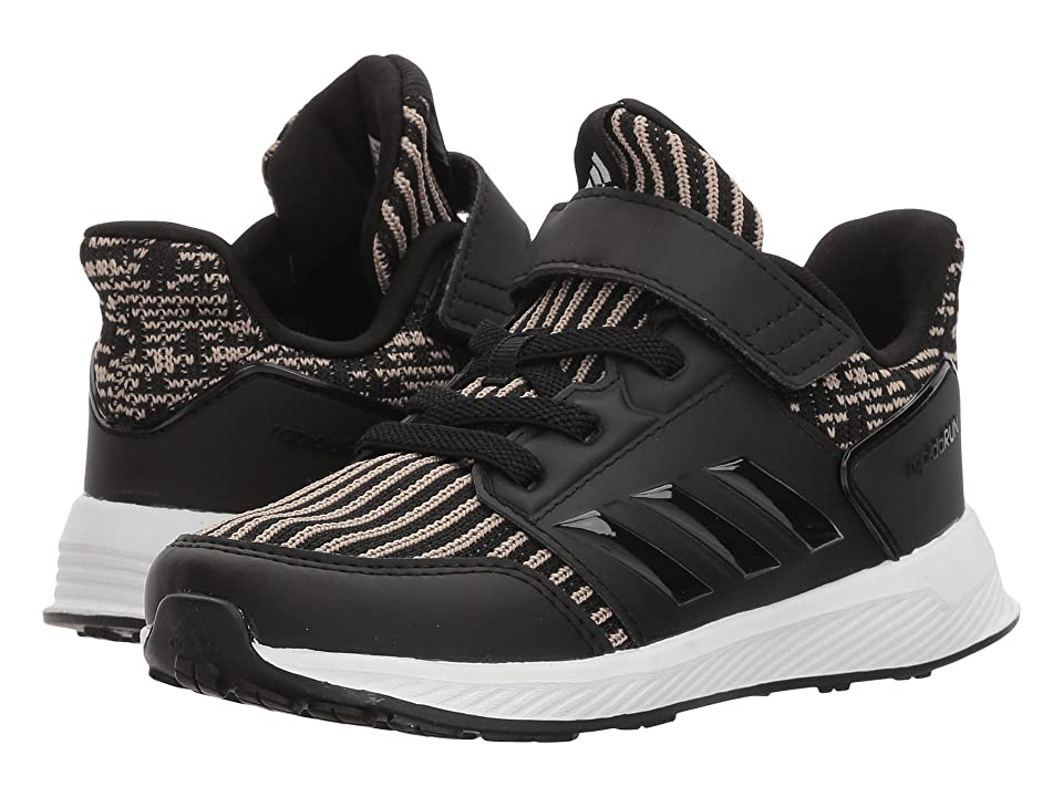 adidas Kids RapidaRun Knit (Toddler) (Black/Raw Gold) Kids Shoes