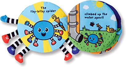 Melissa & Doug Soft Activity Book - Itsy-Bitsy Spider (Interactive Cloth Baby Book, Great Gift for Girls and Boys – Best for Babies, Toddlers, All Ages)