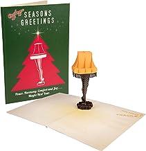 A Christmas Story Leg Lamp Pop-Up Christmas Greeting Card - Season's Greetings with Pop Up Leg Lamp - Blank Inside - 5 x 7