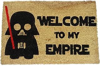 koko doormats Felpudo de Star Wars para Entrada de Casa Welcome to my Empire Original y Divertido/Fibra Natural de Coco con Base de PVC, 40x60 cm