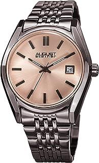 August Steiner Women's Quartz Watch with Stainless-Steel Strap, Grey, 19 (Model: AS8235GN)