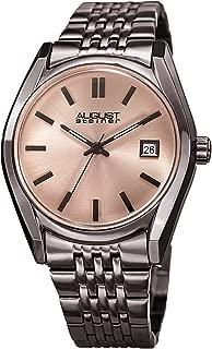 August Steiner Women's AS8235GN Date Sunray Stainless Steel Gun Link Bracelet Watch