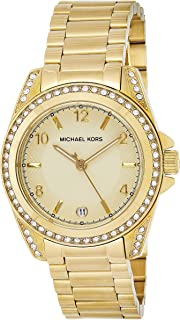 Michael Kors Womens Quartz Watch, Analog Display and Stainless Steel Strap MK5334