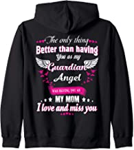 Heaven Is A Beautiful Place My Mom Is There Memorial Gift Zip Hoodie