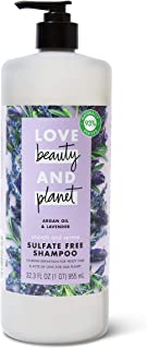 Love Beauty And Planet Smooth & Serene Sulfate, Silicone & Paraben Free Shampoo for Frizz Control Argan Oil & Lavender, Ve...