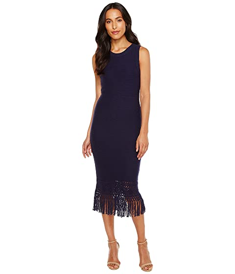 Laundry by Shelli Segal Sweater Dress with Fringe Detail ...