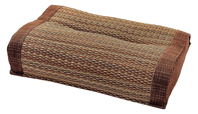 なめらかな第二に地中海萩原 い草 快眠枕 「南風」 ブラウン 約40X30X10 81848711